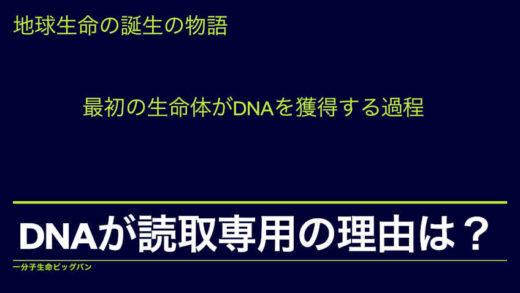 DNAの情報はなぜ読み取り専用なのか